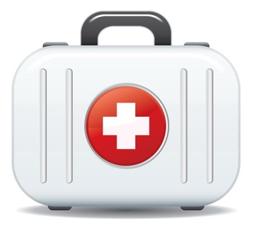 First aid box icon in vector format